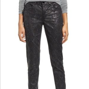 Wit & Wisdom Snake Print Jegging Black Ab Solution